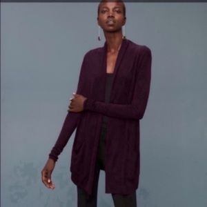 Wilfred with Silk & Cashmere Burgundy Cardigan
